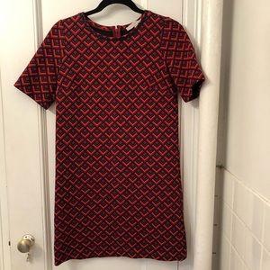 Loft Size Small Mini Dress -retro print